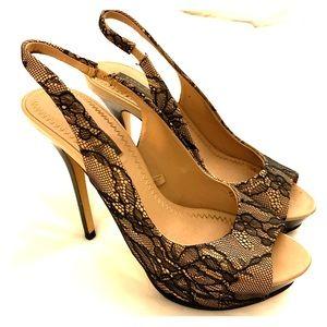 Zara women's lace heels size 7